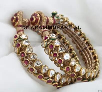 One pair Kundan bangle KB-A2